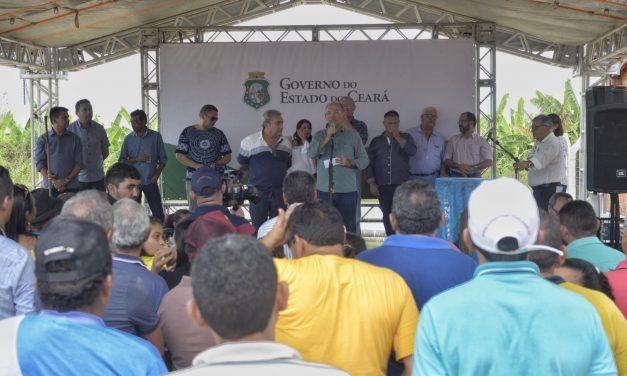 Quixeré: Governo do Ceará inaugura adutora no distrito de Lagoinha