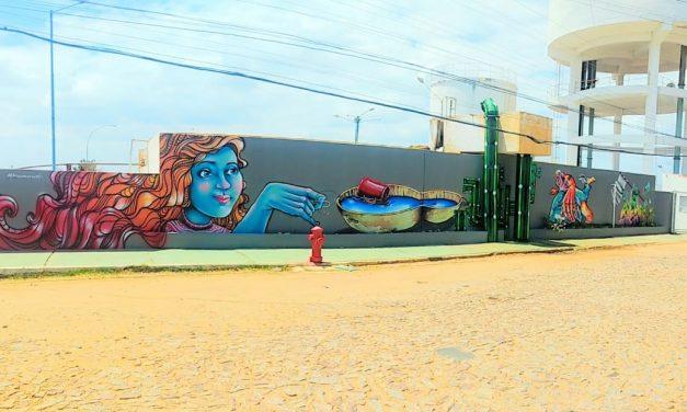 Crateús: Estação de Tratamento de Água ganha revitalização por meio de grafite