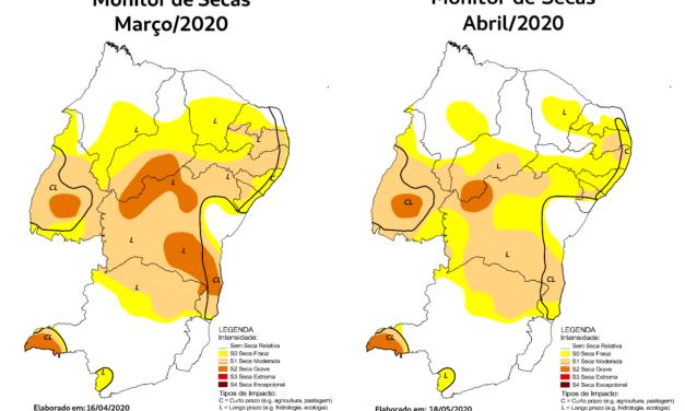 Monitor aponta Ceará e Maranhão como estados do NE em melhor situação em relação à seca