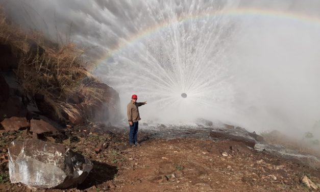 Cogerh recupera válvula dispersora do açude Canoas e reservatório voltará a liberar água após 5 anos de estiagem